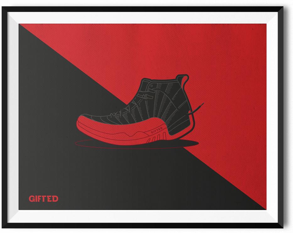 Jordan 12s Poster