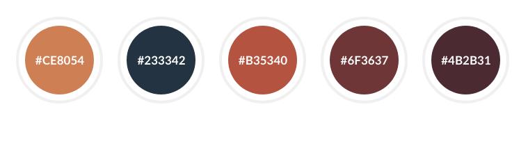 Landing page color scheme
